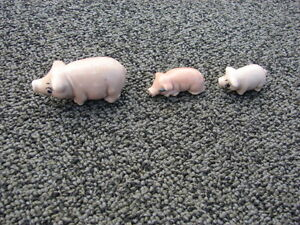 All collection 3 pcs set Pigs porcelain wade