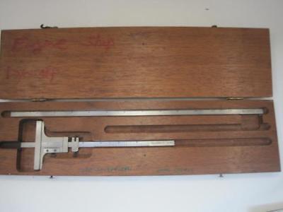 12788 Starrett 448 Vintage Vernier Depth Gage Gauge Set 0 - 6.5 0 - 12.5 Guc