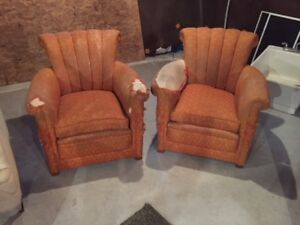 FREE PAIR OF 30'S CLUB CHAIRS FOR REUPHOLSTERY