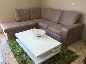 Cream L shape sofa with chaise / Delivery available Ryde Ryde Area Preview