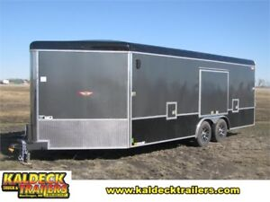 """H&H 101""""x 20'+5' Enclosed Combo Trailer"""