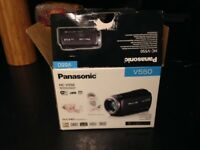 Panasonic Camcorder HC-V550 full HD in box- hardly used