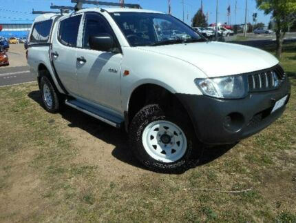 2008 Mitsubishi Triton ML MY08 GLX (4x4) White 4 Speed Automatic 4x4 Double Cab Utility