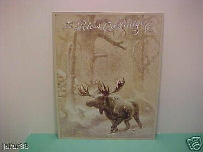 PETERS, MOOSE IN SNOW, NEW METAL SIGN,  APO & FPO WELCOME)