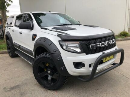 2015 Ford Ranger PX MkII XL Hi-Rider Utility Double Cab 4dr Spts Auto 6sp, 4x White Sports Automatic Oxley Park Penrith Area Preview
