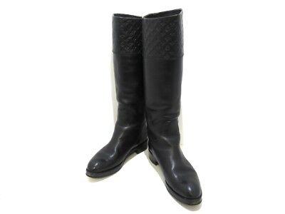 Auth LOUIS VUITTON Black Leather CL0141 Women