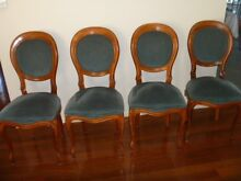 4 x Classical Dining Chairs in Blue Velvet Wooloowin Brisbane North East Preview