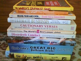 10 humorous books - various subjects good or very good condition