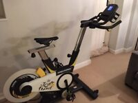 Amazing Pro-Forma Official Tour de France Indoor Exercise Bike with Google Maps Simulates Terrain