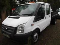 2014 Ford Transit 2.2TDCi 350 LWB Double CAB TIPPER PICK UP 69,000 MILES GUARAN