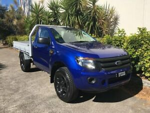 2014 Ford Ranger PX XL 2.2 (4x4) Blue 6 Speed Manual Cab Chassis Bowen Hills Brisbane North East Preview