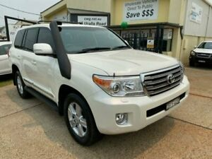 2012 Toyota Landcruiser VDJ200R MY12 Sahara (4x4) White 6 Speed Automatic Wagon