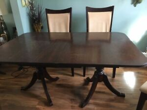 Dining table + 4 chairs + buffet hutch great condition