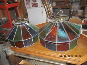 Stained glass electric ceiling light fixtures