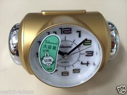 [Telesonic]CRAZY Super LOUD Bell Alarm snooze Clock GLD+Free Ship~MADE in TAIWAN