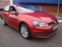14 VOLKSWAGEN GOLF SE TDI DIESEL *PEARL RED* £20 ROAD TAX