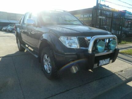 2008 Nissan Navara D40 ST-X (4x4) Grey 6 Speed Manual Dual Cab Pick-up Williamstown North Hobsons Bay Area Preview