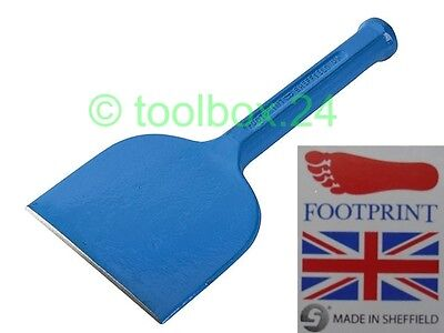 "Genuine FOOTPRINT Heavy Duty Brick Bolster 4"" 100mm (Stone Masonry Chisel)"