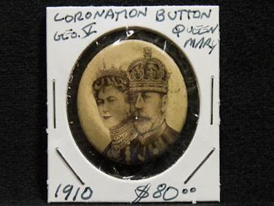 NobleSpirit NO RESERVE {3970} Scarce Coronation Button George V & Mary 1910