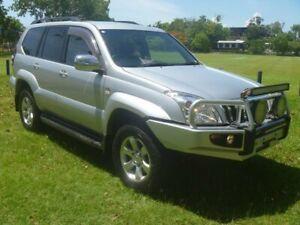 2007 Toyota Landcruiser Prado KDJ120R GXL Silver 5 Speed Automatic Wagon Stuart Park Darwin City Preview