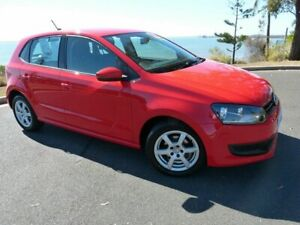 2012 Volkswagen Polo 6R MY12.5 77TSI DSG Comfortline Red 7 Speed Sports Automatic Dual Clutch South Gladstone Gladstone City Preview