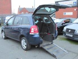 Vauxhall Zafira wheelchair accessible, disabled access car, mobility