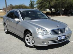 2004 Mercedes-Benz C200 Kompressor W203 MY2005 Elegance Silver 5 Speed Sports Automatic Sedan Maddington Gosnells Area Preview