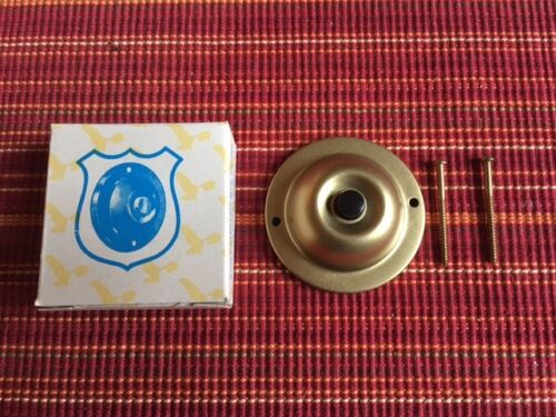 Antique, Eagle Electric Genuine Brass, Round Doorbell (No. 106) (New, Old Stock)