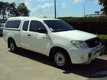 2010 Toyota Hilux GGN15R MY10 SR Xtra Cab Glacier White 5 Speed Automatic Utility Acacia Ridge Brisbane South West Preview