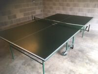 Table tennis table with bats / balls/ net etc
