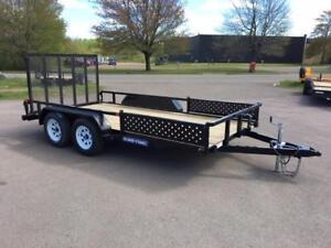 NEW 2018 SURE-TRAC 7' x 14' TUBE TOP ATV TRAILER