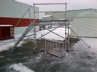 Aluminum scaffolding 2x8 fully adjustable with wheels and steps