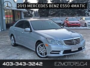 2013 Mercedes-Benz E550|4matic|NO ACCIDENTS!! ONLY 1 IN ALBERTA!