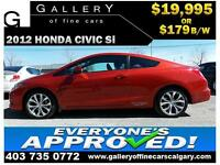 2012 Honda Civic SI $179 bi-weekly APPLY NOW DRIVE NOW