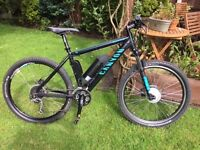Canyon/Cyclotricity Electric Mountain Bike Excellent condition, nearly new 9Ah battery