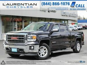 2015 GMC Sierra 1500 SLE- CREW 5.3L, HEATED LEATHER, BLUETOOTH,