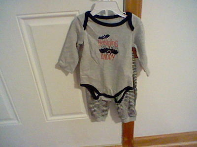 BRAND NEW INFANT BOYS SIZE 3-6 MONTH SMALL WONDERS 2 PIECE OUTFIT (GREAT FOR HAL](New Outfit For Boys)