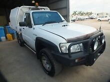 2010 Nissan Patrol GU MY08 DX (4x4) White 5 Speed Manual Cab Chassis Bohle Townsville City Preview
