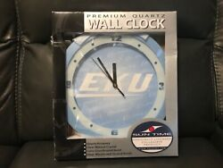 EKU COLONELS BABY BLUE WALL CLOCK Sun Time Officially Licensed ***BRAND NEW***