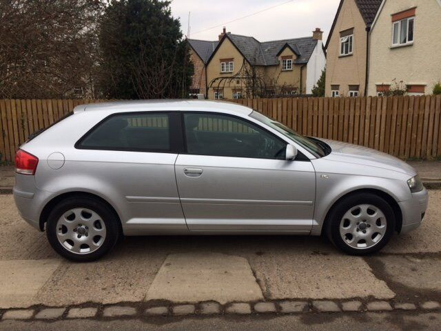Silver Audi A3 1.6L Special Edition 3 dr (2004)