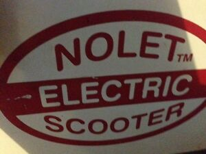 electric Nolet scooter. Will need batteries.  $250