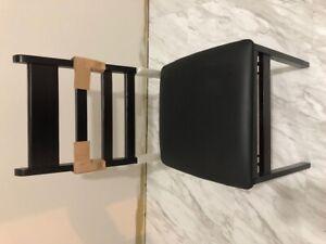 Cosco 2 Wood Folding Vinyl Chairs