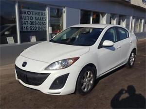 2011 MAZDA3 SEDAN  |  5 SPEED | WHITE | CLEAN | 4 CYLINDER
