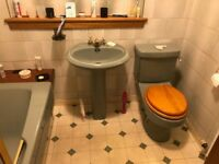 Trentware Avocado Bathroom Suite in really good condition, could be used to match existing ware
