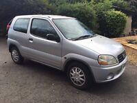 2002 Suzuki Ignis 1.3 Genuine low mileage 49,000 miles 12 months mot very cheap car to run