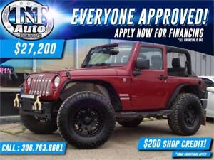 2012 Jeep Wrangler Sport 4X4 APPLY NOW! UR APPROVED!