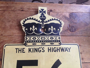 ORIGINAL VINTAGE CANADIAN 56 KINGS HIGHWAY ONTARIO ROAD SIGN Moose Jaw Regina Area image 2