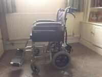 Drive DeVilbiss folding wheelchair with power stroll drive unit