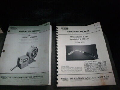 Lincoln Ln-6 Squirt Welder Operations Maintenance Wiring And Parts Manual