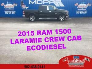 2015 RAM 1500 Laramie EcoDiesel Leather, Back up Cam 4X4!